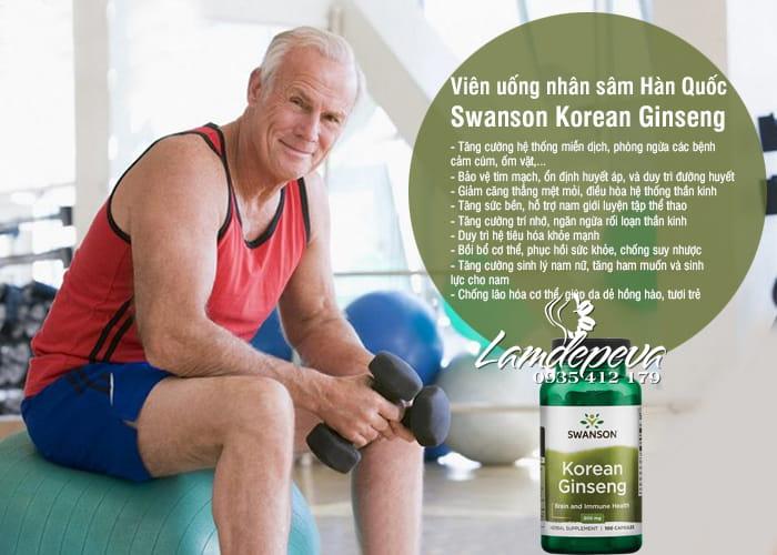 Viên uống nhân sâm Swanson Korean Ginseng 500mg của Mỹ 7