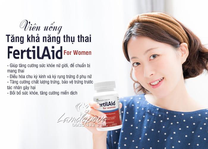 Viên uống FertilAid For Women Fairhaven Health 90 viên của Mỹ 5