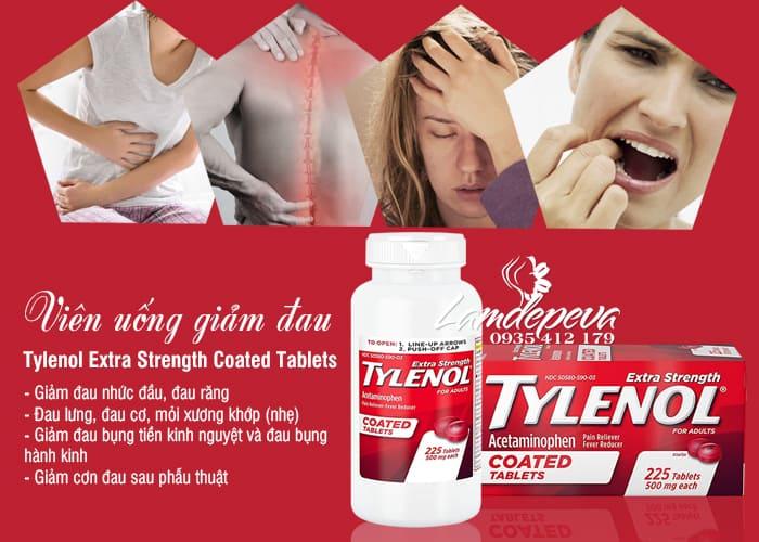 Thuốc giảm đau hạ sốt Tylenol Coated Tablets 500mg 225 viên 5