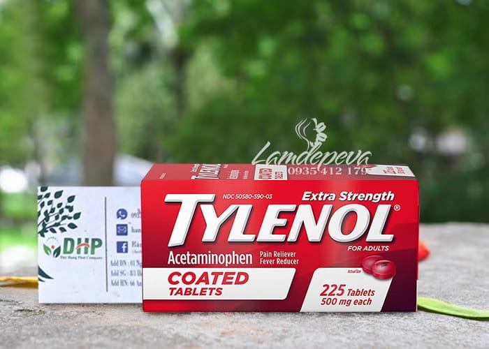 Thuốc giảm đau hạ sốt Tylenol Coated Tablets 500mg 225 viên 8