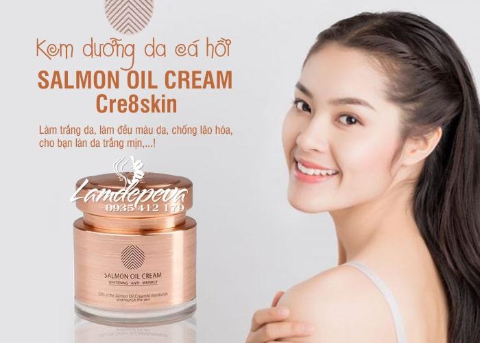 Kem dưỡng da cá hồi Salmon Oil Cream Cre8skin Hàn Quốc 2