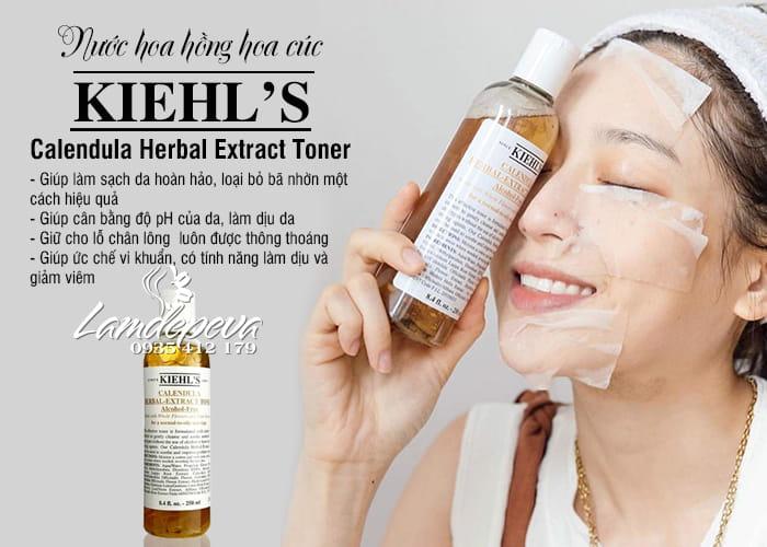 Toner hoa cúc Kiehl's 250ml Calendula Herbal Extract của Mỹ 0