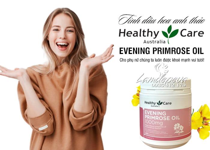 Tinh dầu hoa anh thảo Healthy Care Evening Primrose Oil 200 viên 2