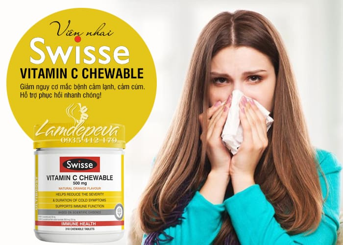 Viên nhai Swisse Vitamin C Chewable 500mg Úc 310 viên  3