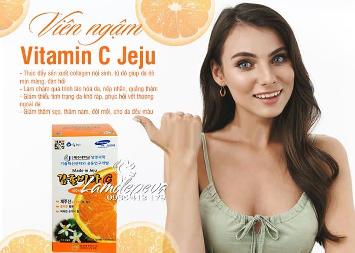 Viên ngậm Vitamin C Jeju 500g 278 viên chính hãng Hàn Quốc 4