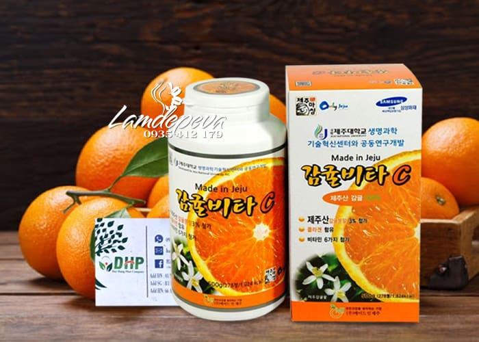 Viên ngậm Vitamin C Jeju 500g 278 viên chính hãng Hàn Quốc 9