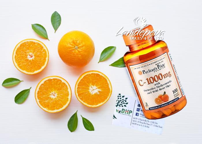Viên uống Vitamin C Puritan's Pride 1000mg hộp 100 viên Mỹ 4