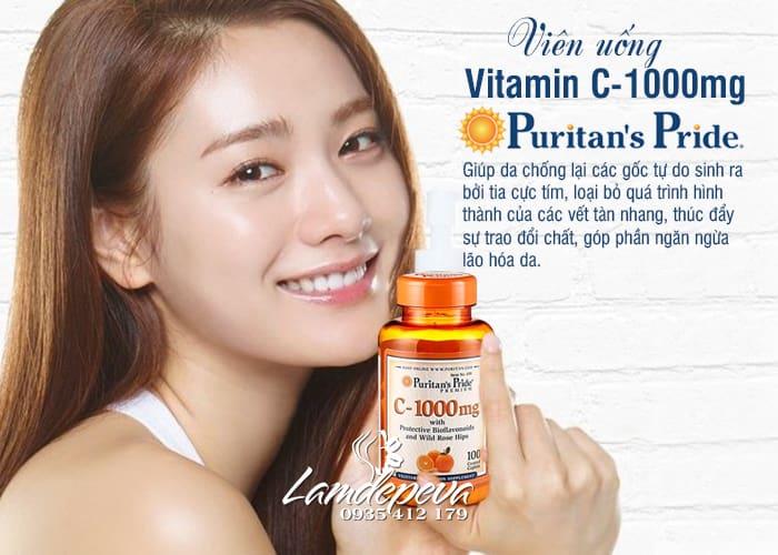 Viên uống Vitamin C Puritan's Pride 1000mg hộp 100 viên Mỹ 8