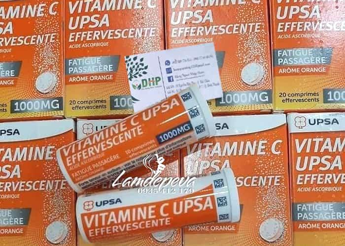 Viên sủi Vitamine C UPSA 1000mg liều cao - Nội địa Pháp 0