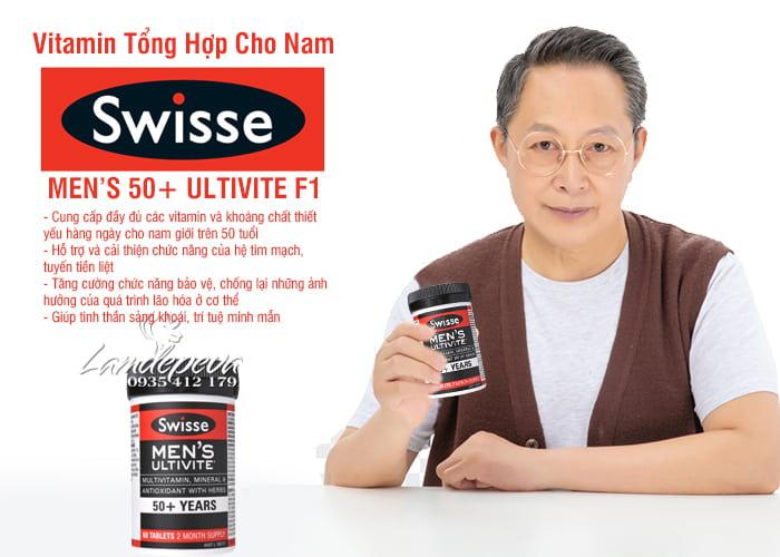 Viên uống vitamin tổng hợp Swisse Men's 50+ Ultivite 60 viên 7