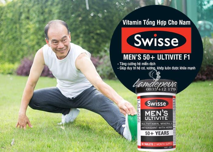 Viên uống vitamin tổng hợp Swisse Men's 50+ Ultivite 60 viên 3