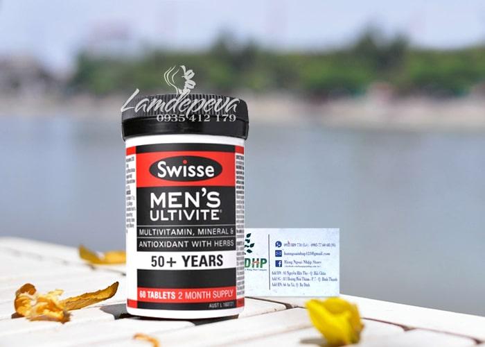 Viên uống vitamin tổng hợp Swisse Men's 50+ Ultivite 60 viên 0