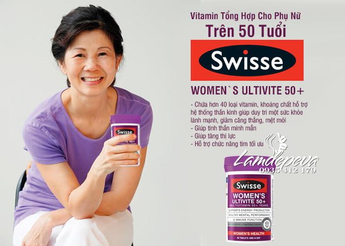 Vitamin tổng hợp cho nữ Swisse Women's Ultivite 50+ 60 viên 0