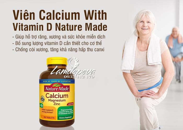 Viên Bổ Sung Calcium With Vitamin D Của Nature Made Mỹ - 300 Viên 7