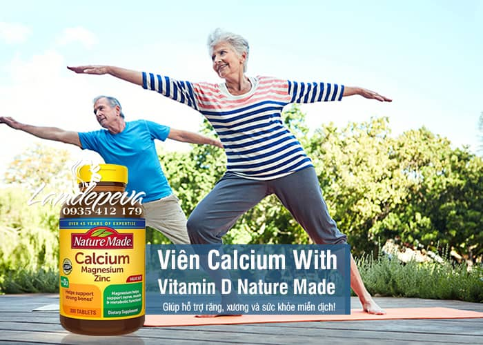 Viên Bổ Sung Calcium With Vitamin D Của Nature Made Mỹ - 300 Viên 8
