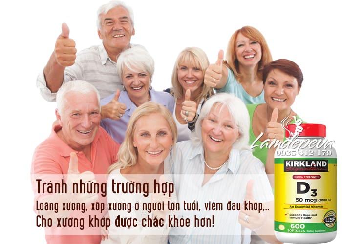 Viên uống Vitamin D3 Kirkland Extra Strength D3 50mcg mẫu mới 3