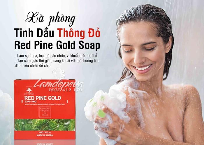Xà phòng tinh dầu thông đỏ Phytopine Red Pine Gold Soap 100g 4