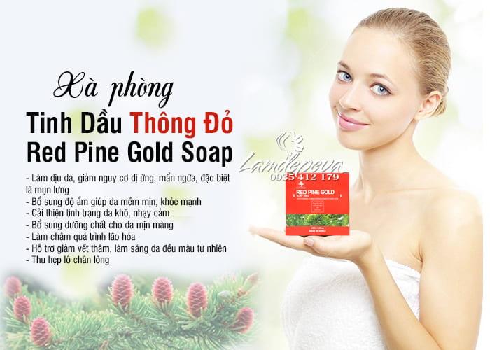 Xà phòng tinh dầu thông đỏ Phytopine Red Pine Gold Soap 100g 6