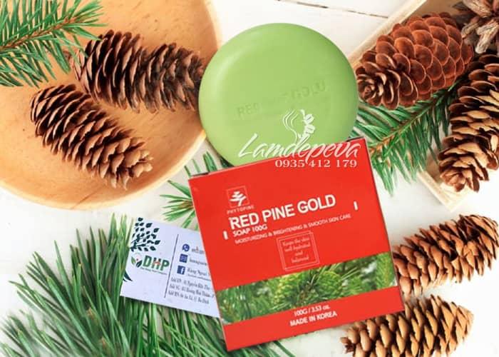 Xà phòng tinh dầu thông đỏ Phytopine Red Pine Gold Soap 100g 2