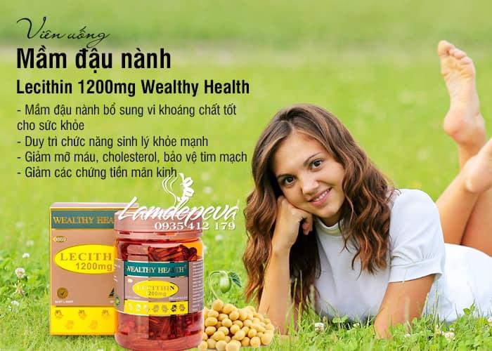 Viên uống mầm đậu nành Wealthy Health Lecithin 1200mg 200 viên 6