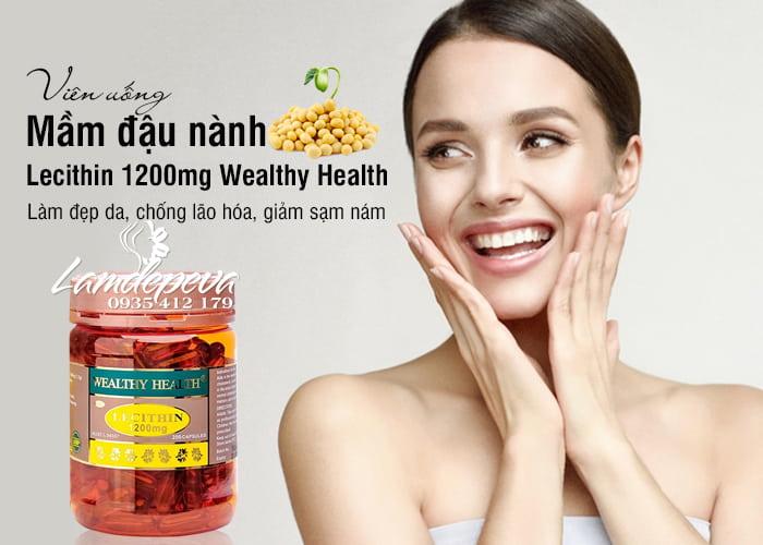 Viên uống mầm đậu nành Wealthy Health Lecithin 1200mg 200 viên 11