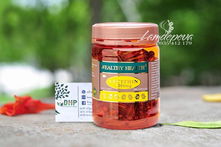 Viên uống mầm đậu nành Wealthy Health Lecithin 1200mg 200 viên 9